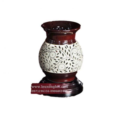 Đèn xông khuếch tán tinh dầu hình bình hoa Nada Oils
