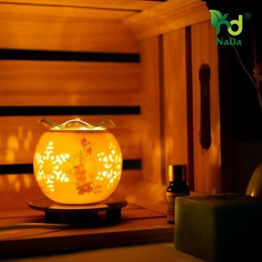 Đèn xông khuếch tán tinh dầu hoa tím Nada Oils - NDĐ1238