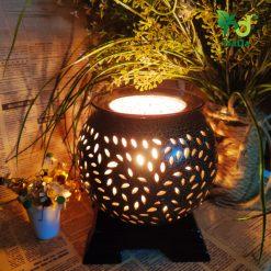Đèn xông khuếch tán tinh dầu lá lớn Nada Oils