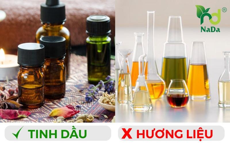 phân biệt tinh dầu hay hương liệu Nada Oils